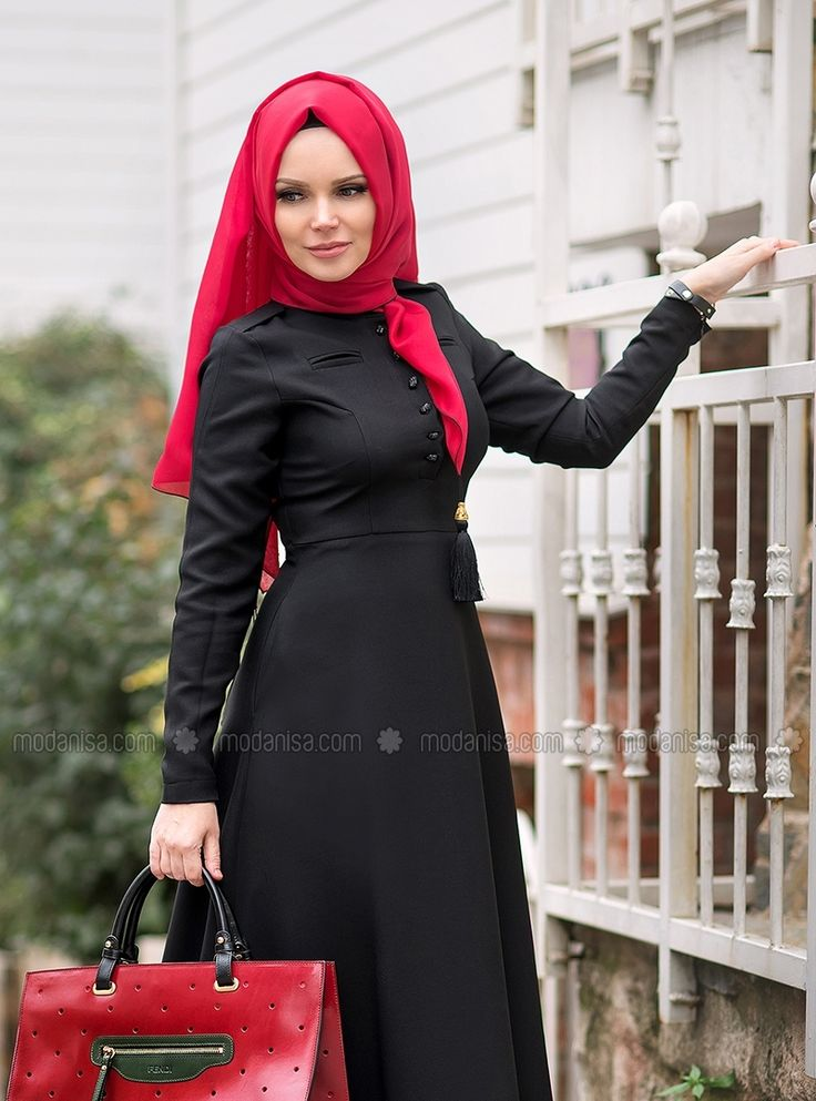 Elbise - Siyah - Muslima Wear