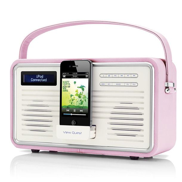 Retro Radio DAB+ Pink (more colors)