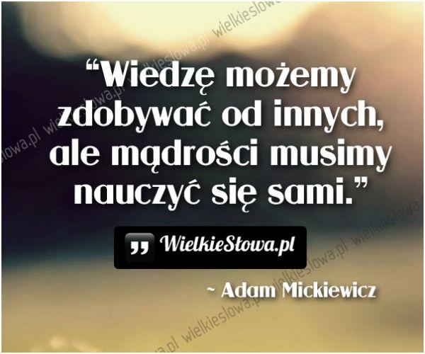 Wiedzę możemy zdobywać od innych... #Mickiewicz-Adam,  #Mądrość-i-wiedza, #Nauka-i-technika
