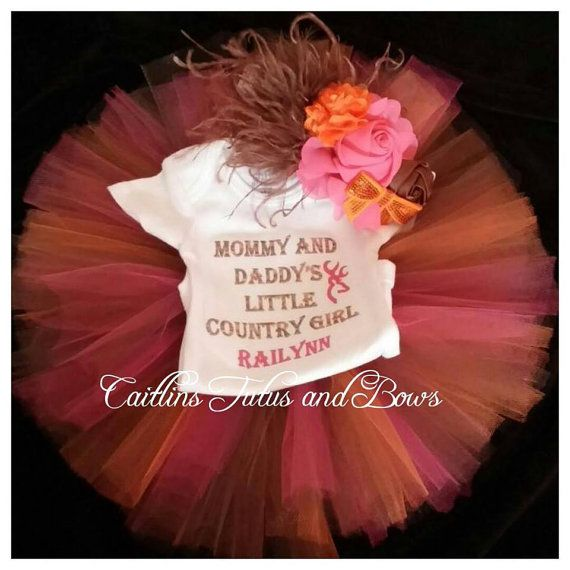 Country girl tutu outfit, mommy and daddy's country girl, country girl shirt, pink and brown tutu, camo tutu, camo tutu outfit, country tutu