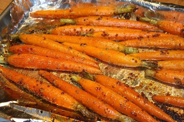 Honey Mustard Roasted Baby Carrots | Vegetables dishes | Pinterest