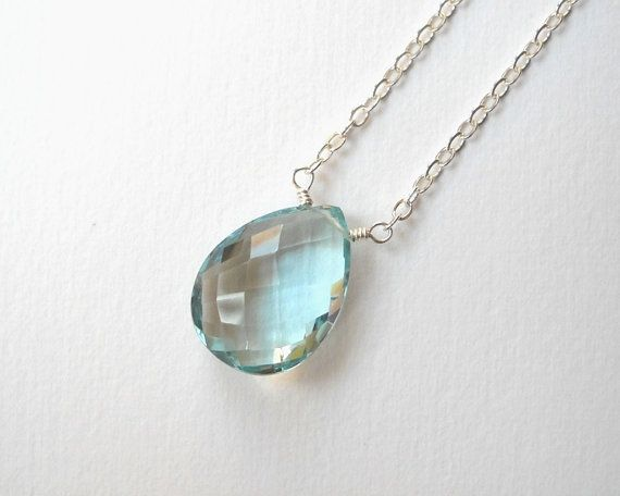 Blue Topaz Necklace  Sterling Silver by VeronicaRussekJoyas, $49.00
