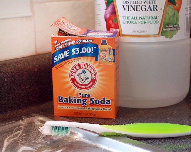 And hard water stain remover make a paste with baking soda and water