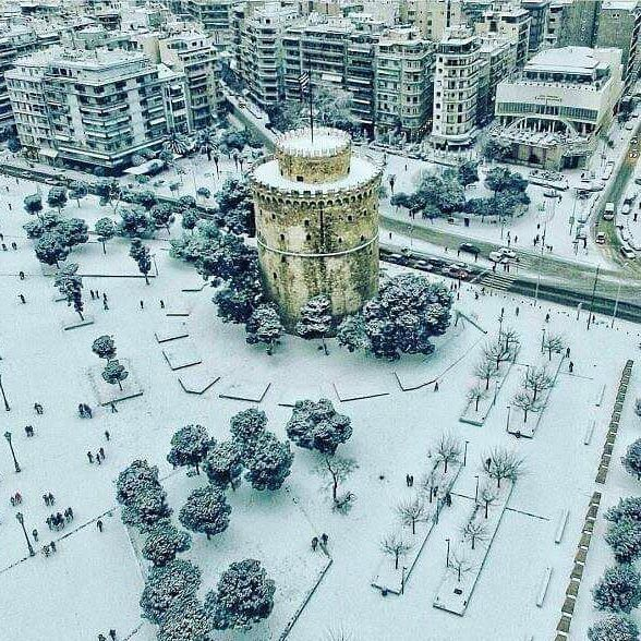 A beautiful white Thessaloniki! #greece #thessaloniki #ilovegreece #instagreece #greeklife #greek #greeks #hellas #visitgreece