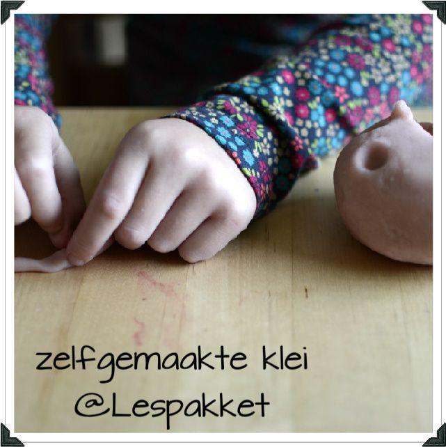 zelfgemaakte klei - recept - Lespakket