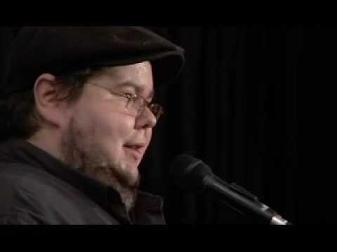 Shane Koyczan, The Crickets Have Arthritis, Words Aloud 2007, Canada...beautiful poem. Example for spoken word poetry unit?