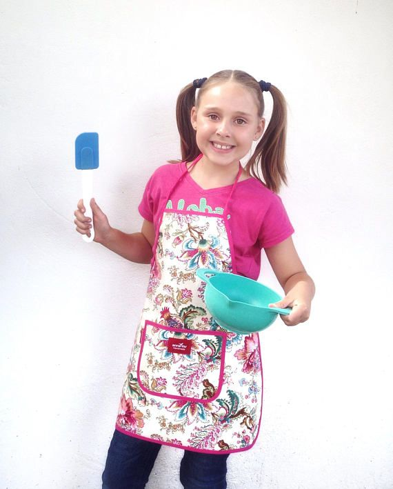 Apron for Girl Cooking Accessories Kiddies Apron for Crafts