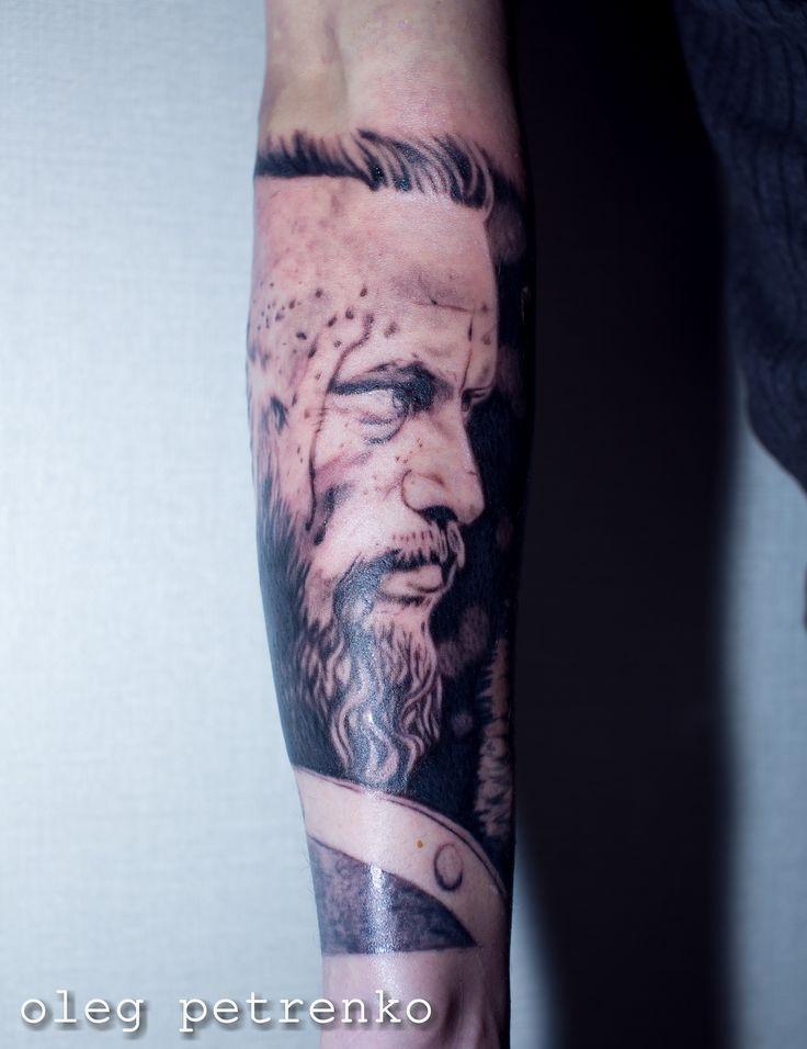 Рагнар тату викинги арт искуство войны татуировка рукав