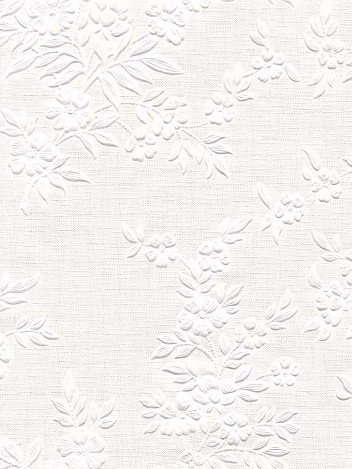 Add the serene beauty of white wallpaper to your home with this gorgeous floral pattern from the Anaglypta book at AmericanBlinds.com