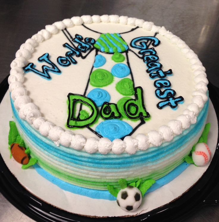World's Greatest Dad Father's Day DQ ice cream cake