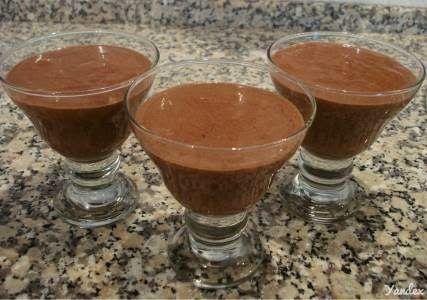 Mousse de chocolate com whey protein
