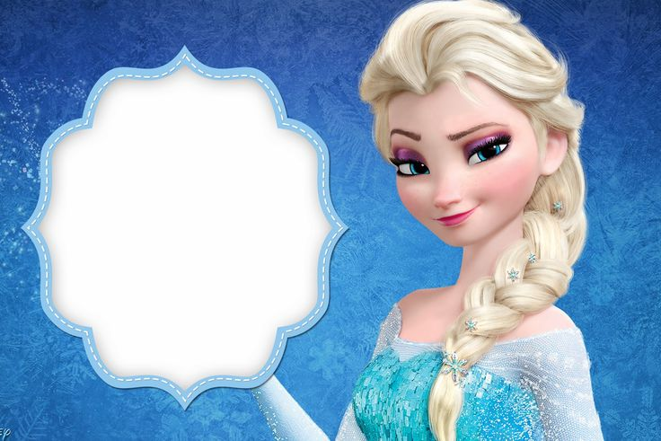 frozen free printable cards or party invitations - Disney Frozen Picture Frames