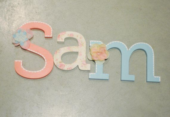 Free Standing Letter Name Hand Painted And Decorated Wooden