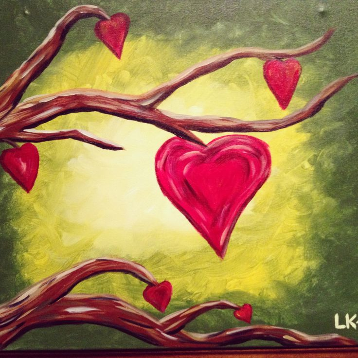 11 best Paintings Valentine\'s Day images on Pinterest | Canvas art ...