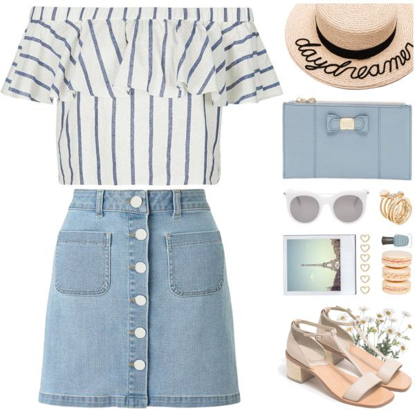 How To Wear linen bardot top Outfit Idea 2017 - Fashion Trends Ready To Wear For Plus Size, Curvy Women Over 20, 30, 40, 50