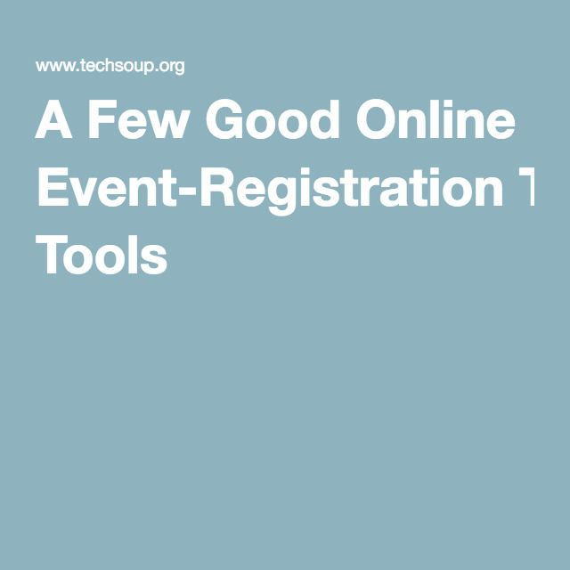 A Few Good Online Event-Registration Tools