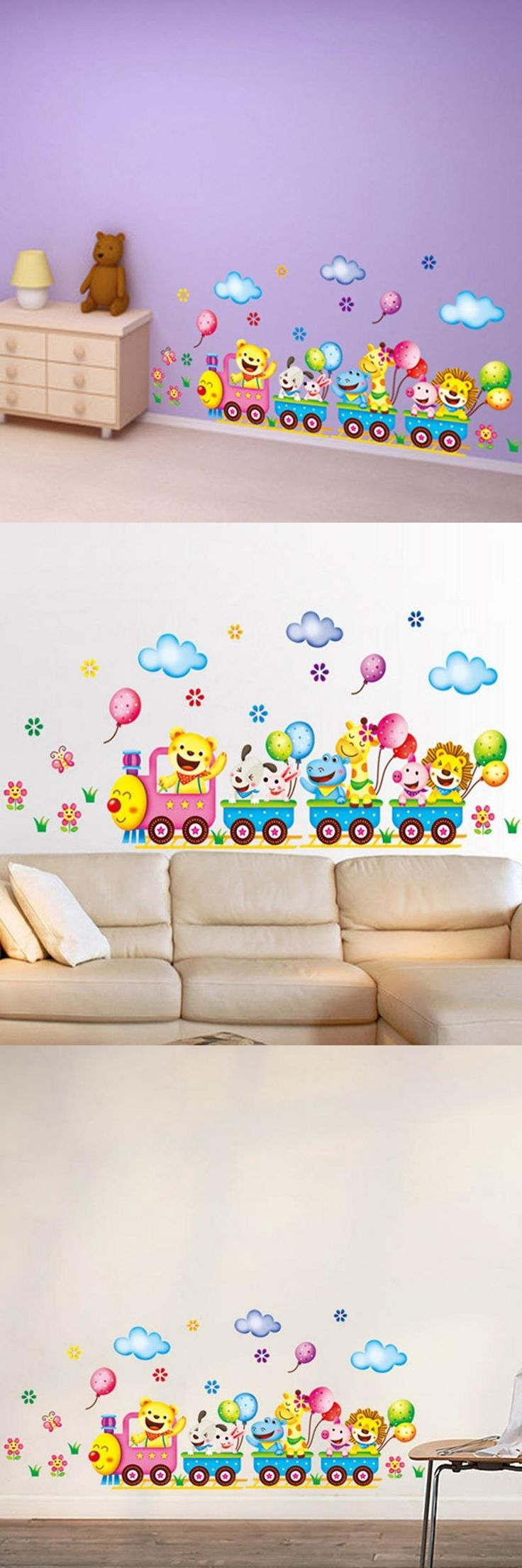 Best 25 small wall stickers ideas on pinterest wall decor xy3013 free shipping small adhesive wall stickers vinyl cute animals train wall tattoos for baby amipublicfo Gallery