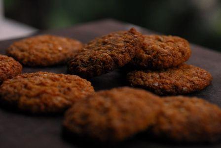 Crunchy Anzac Ish Biscuits