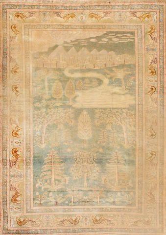 silk Kayseri carpet  Anatolia  circa 1920  size approximately 7ft. 1in. x 10ft. 2in.