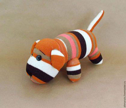Игрушки животные, ручной работы. Ярмарка Мастеров - ручная работа. Купить Собака Охра текстильная мягкая игрушка.Игрушки из носков.. Handmade.