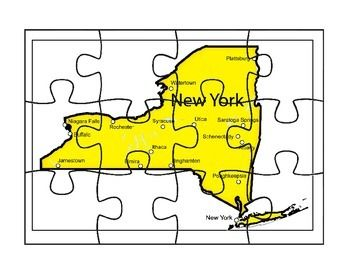 This is a state map puzzle and it includes two map reflection activities where students draw and write about the map.
