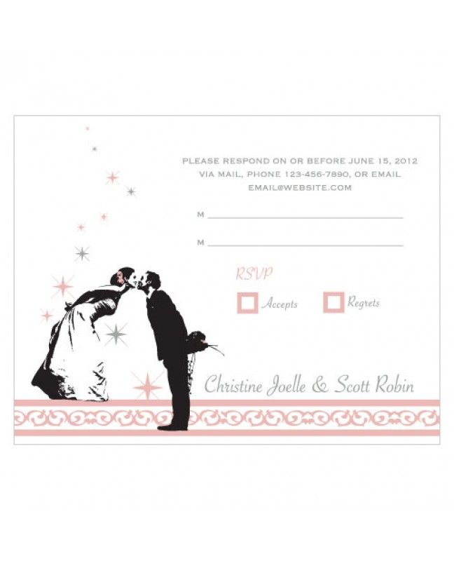 Vintage Hollywood Wedding RSVP www.mybridalsupply.com