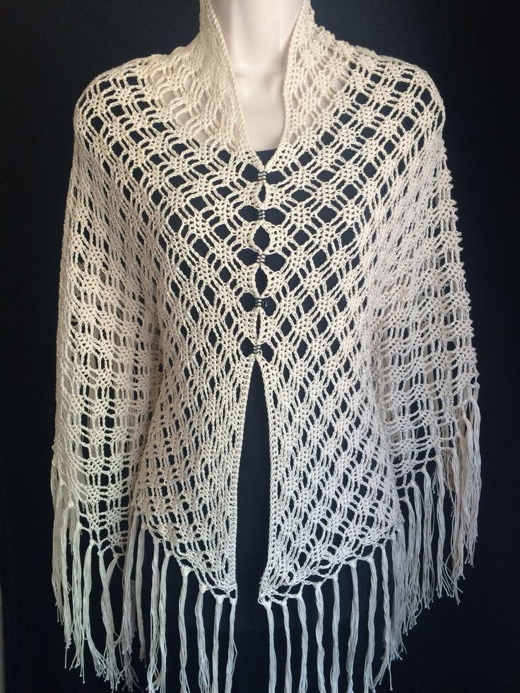 Serenity Shawl beautiful handmade crochet boho style shawl