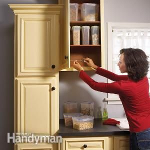 how to fix screw holes in cabinets