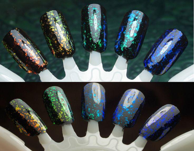 Mega flakies colorshifting flakie top coats glowing