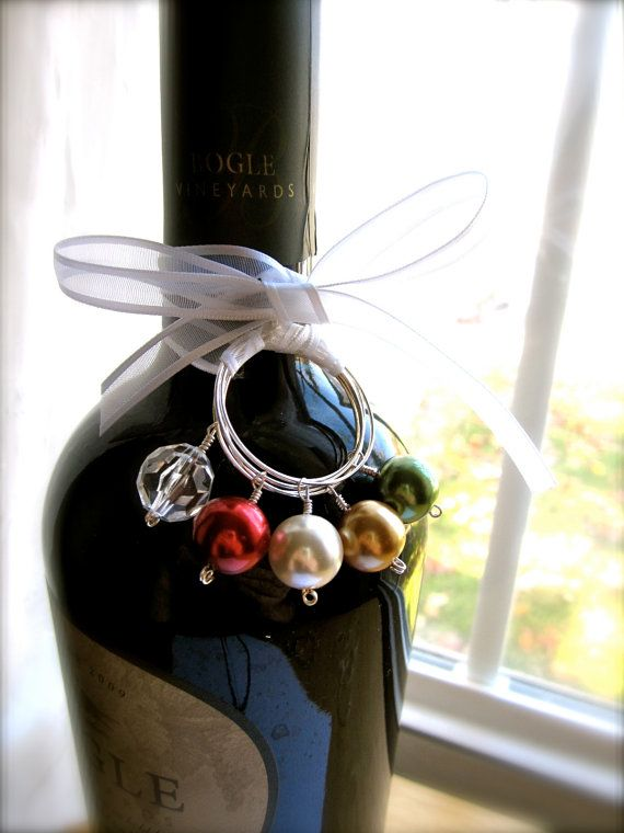 Great Holiday Hostess Gift-- wine & glass charms