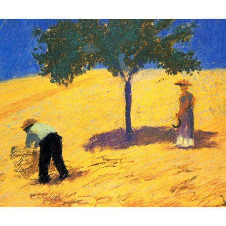 Tree in the cornfield - August Macke - reprodukcje na płótnie - Fedkolor