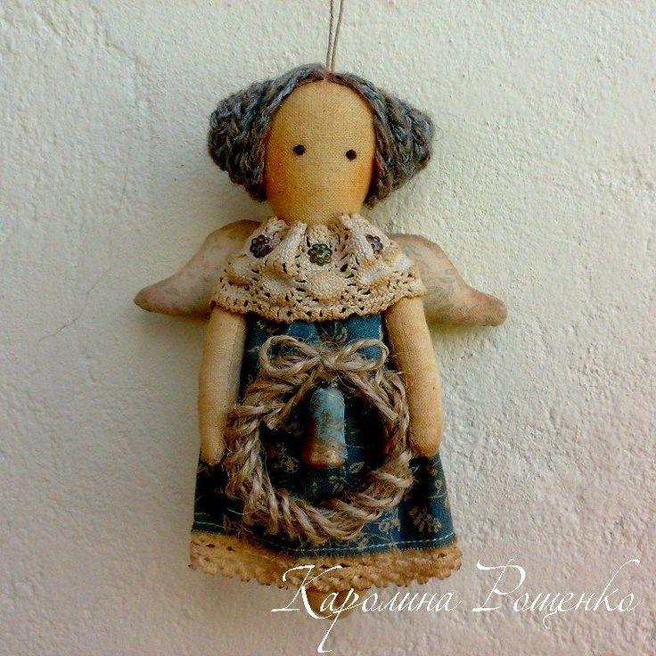 Купить Девочки-колокольчики - интерьерная кукла, примитив, украшение на елку, новогодний подарок, новогодний сувенир