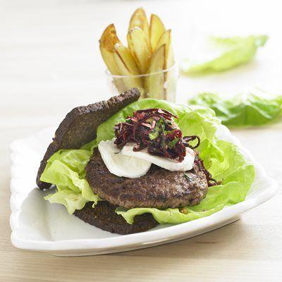 Nordisk burger - med rødbedepesto