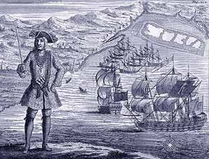 The Spanish were continuously harassed in the Caribbean by pirates and buccaneers who attacked the Spanish galleons which were carrying riches back to Spain. The celebrated English Explorers Sir John Hawkins and Sir Francis Drake were classed as such famous pirates!