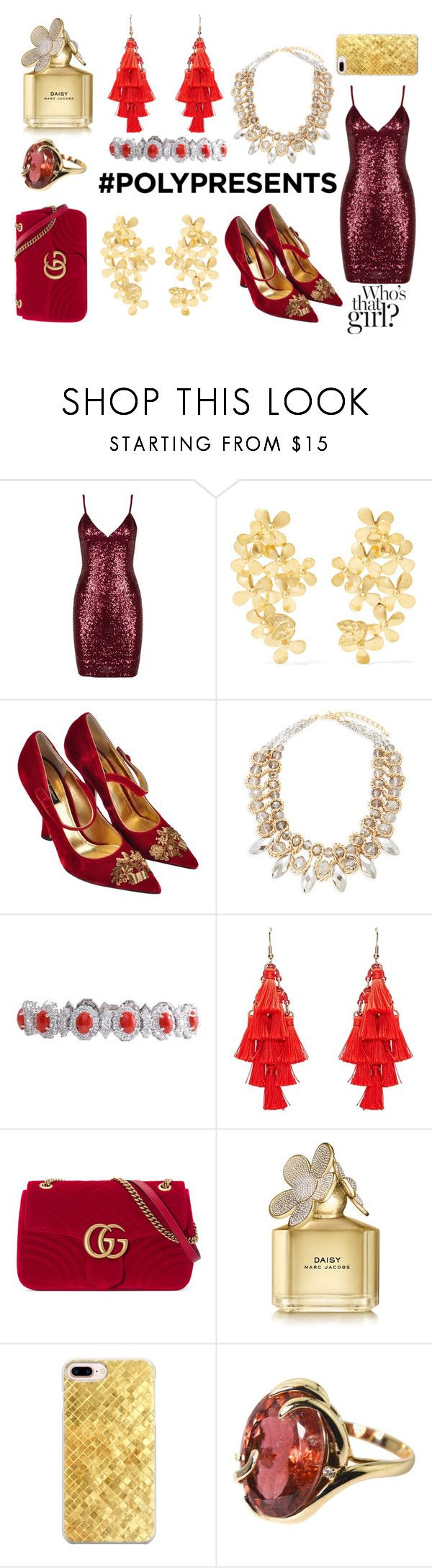 """#PolyPresents: Statement Jewelry"" by gwenyth-brass ❤ liked on Polyvore featuring Pippa Small, Dolce&Gabbana, Saks Fifth Avenue, Gucci, Marc Jacobs, Casetify, Gemjunky, contestentry and polyPresents"