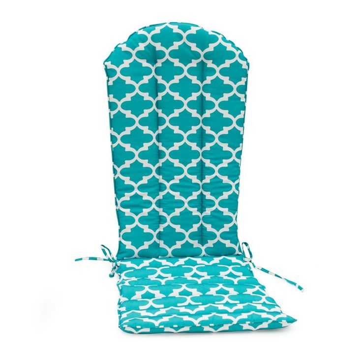 Coral Coast Lakeside Adirondack Chair Cushion Aqua Blue Quatrefoil - TRENDM055-1-AQUAQF