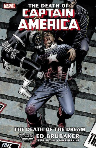 The Death of Captain America, Vol. 1: The Death of the Dream by Ed Brubaker http://www.amazon.com/dp/0785124233/ref=cm_sw_r_pi_dp_HAgqub0FTJD8Z