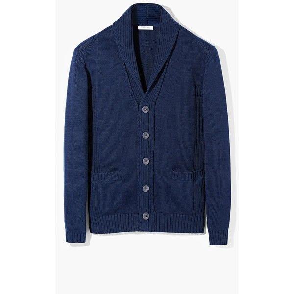 Shawl Collar Cotton Cardigan (€43) via Polyvore