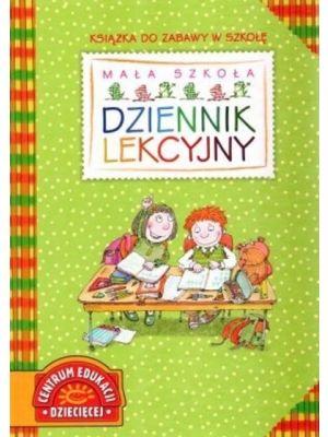 """Książka do zabawy w szkołę! Jak w prawdziwym dzienniku lekcyjnym, można wpisywać tematy lekcji, uwagi o zachowaniu uczniów. Posiada także specjalną """"klapkę"""" (""""skrzydełko"""") z miejscem na imiona i nazwiska dzieci - jak w prawdziwym dzienniku."""