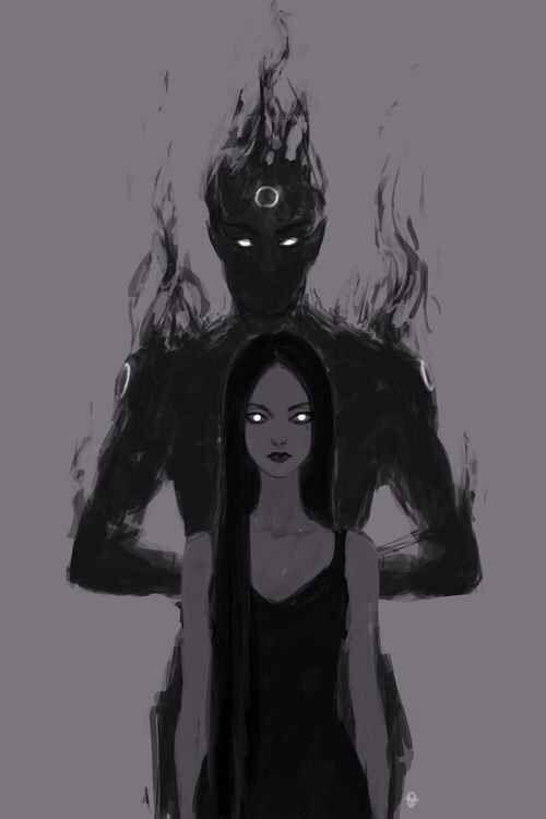 """Bellatrix and her Shadow """"ele está ao meu lado desde sempre...as vezes ele comanda,as vezes eu dou as ordens...mas nuca nos separamos"""""""
