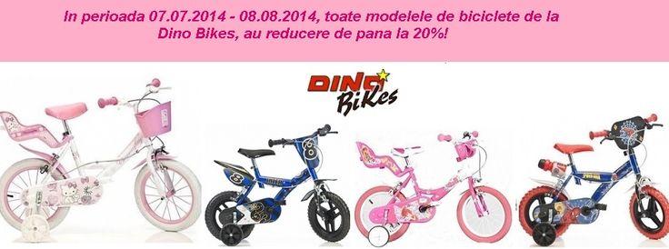 Reduceri 20% la toate Bicicletele Dino Bikes mai multe detalii pe www.kidmagazin.ro