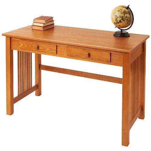 Contemporary Homeoffice Desk: Manchester Wood Large Mission Desk Golden Oak ** Be Sure