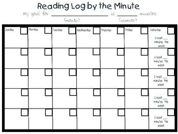 FREE Monthly Reading Log by Olivia DiDio