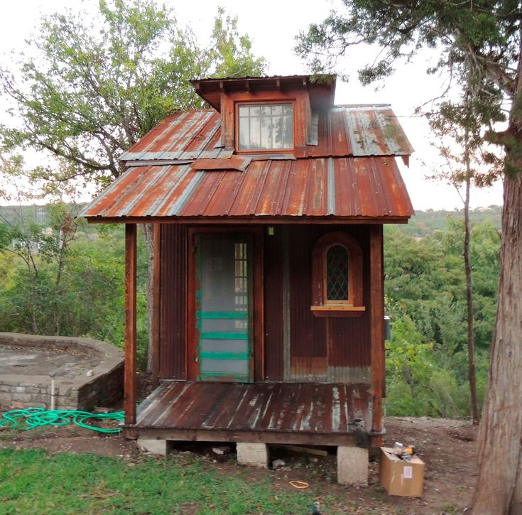 """Tiny Texas Houses were featured in our book Tiny Homes: SimpleShelter. Here are examples of more of their work. All materials salvaged."""""""