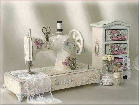 altered antique sewing machine