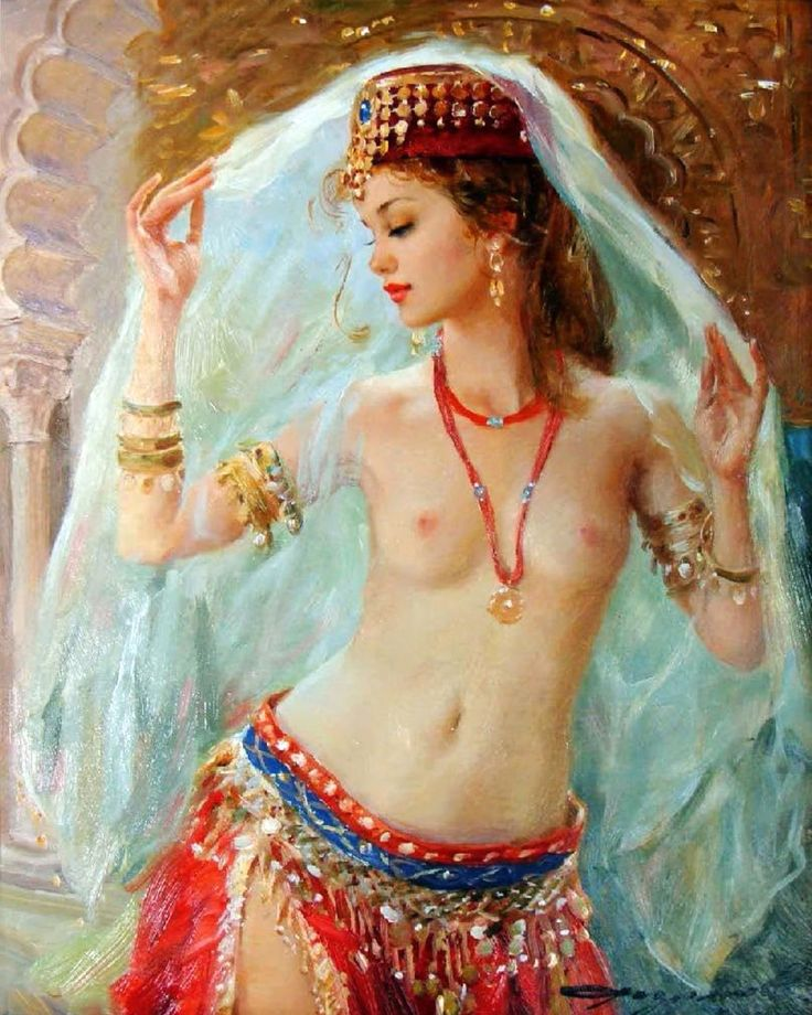 Indian Nude Girl Pictures Hand Painted Art Oil Paintings