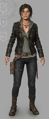 Rise of the Tomb Raider - Leather Jacket outfit
