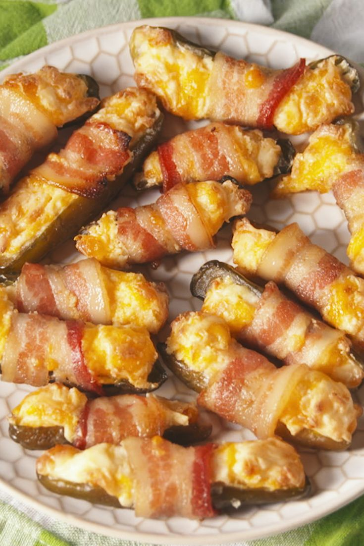 Bacon-Wrapped Pickles.  Pickles are the new pigs in a blanket.
