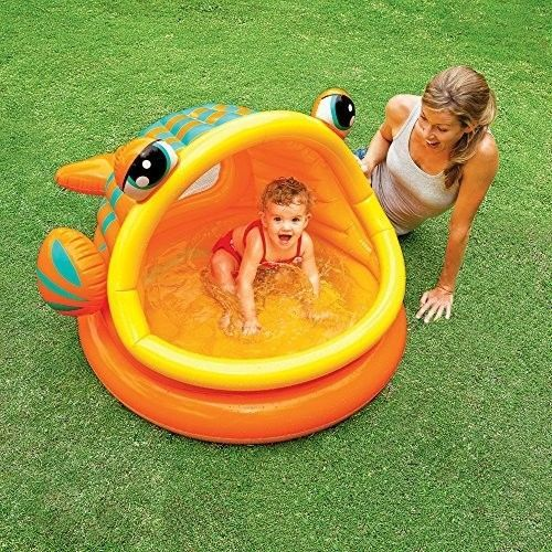 Fish-Inflatable-Baby-Pool-Kid-49-X-43-X-28-Ages-1-3-Garden-Home-Summer-New