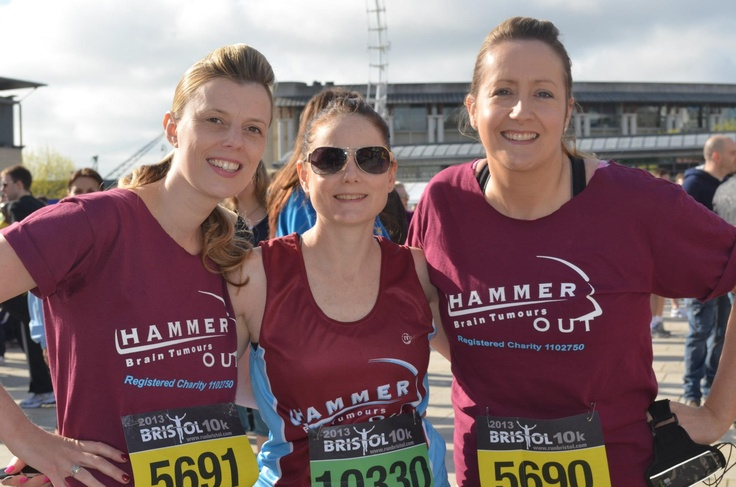 Huge thanks to Lisa Stone (centre) & her friends Zena Cole and Leanne Carter, who ran the Bristol 10K on May 5th and raised more than £1100 for Hammer Out. Fantastic achievement!